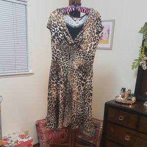 Leopard Print Fitted Dress